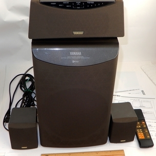 YAMAHA サラウンドシステム NX-AVS7 配線、リモコン付き