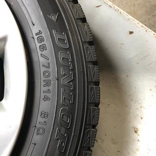 スタッドレスタイヤ ホイール4本セット 165/70R14 9分山 - 車のパーツ