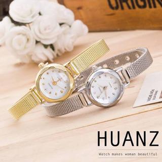 HUANSのシルバー腕時計
