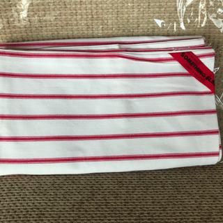 【未使用】LOFTY 枕カバー、赤ストライプ