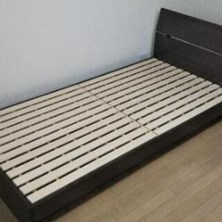 すのこシングルベッド、マットレス付