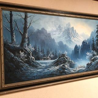 【油彩画】ヒマラヤ山脈