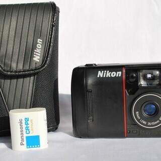 動作確認済 ニコン TW20 コンパクト フィルムカメラ 新品電池付