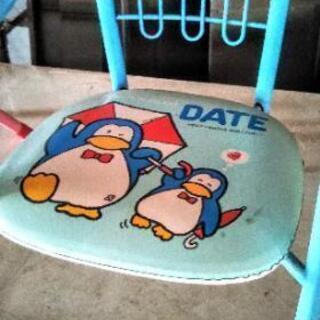 子ども用 パイプ椅子2個セット レトロ