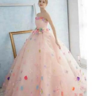 【結婚式二次会、前撮りに】ピンクカラードレス