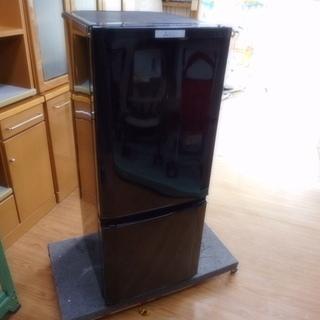 【リサイクルサービス八光 田上店 安心の3か月保証 配達・設置OK】冷蔵庫 三菱 MR-P15A  146L 2ドア サファイアブラック 2016年製 の画像