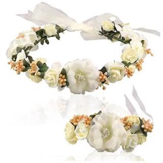 お花の冠、腕輪の画像