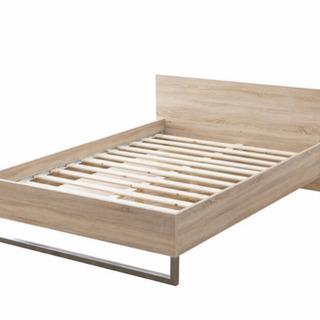 【2018年9月購入使用期間1年】LOWYA購入 北欧木製ベッド...