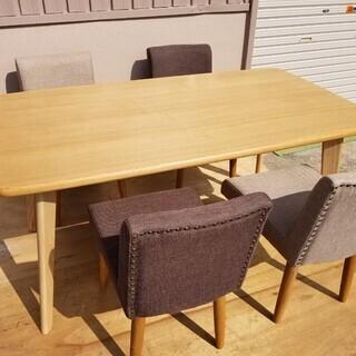 ◆ ダイニングテーブル + 椅子4脚 セット ◆ 【展示品】