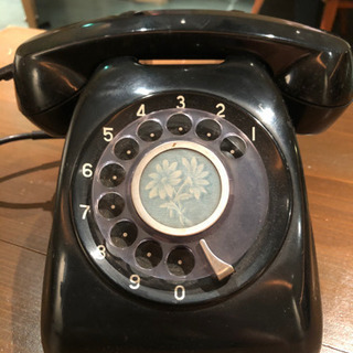 昭和レトロ感漂う黒電話 アンティークとしてどうぞ