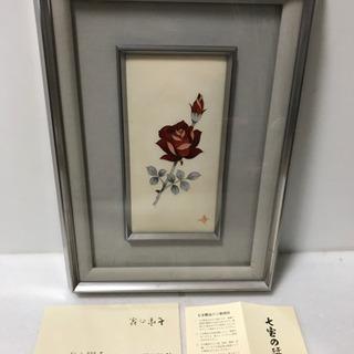七宝焼 陶額 薔薇 寸法(約)幅30×奥行4.5×高さ42.5cm