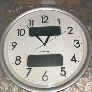 【激安!】電波壁掛け時計 カレンダー温度計湿度計付き!