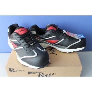 シモン プロテクティブスニーカー 短靴 KA211 黒/赤 26...