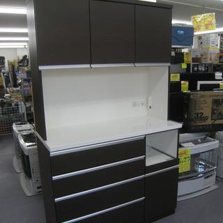 キッチンボード 食器棚 ダークブラウン ¥34,800-
