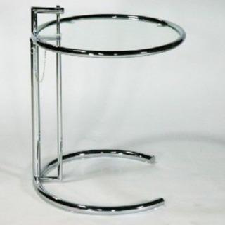 アイリーン アジャスター付きガラステーブル