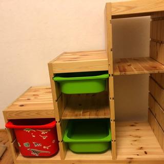 IKEA子供の階段式収納家具