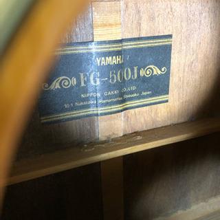 YAMAHA FG500J 黒ラベル ハードケース付き