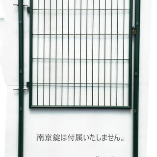 アニマルフェンス用扉 ガーデンゲート 門扉支柱セット 1m