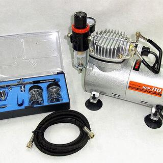 ホビー コンプレッサー エアブラシセット 100V 新品