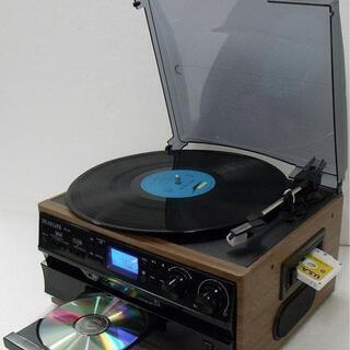 レコード CD ラジオ&カセット搭載多機能プレーヤー