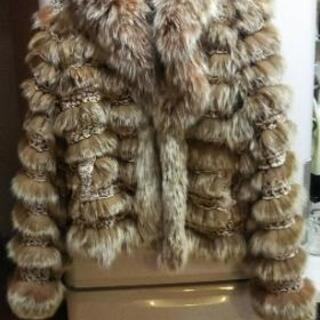 高級 フォックス 毛皮 コート