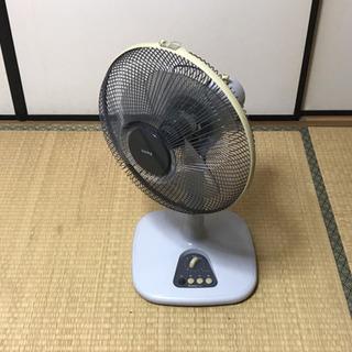 扇風機 ⚫️レトロ感のある高さ調節(上下に動く)できる扇風機