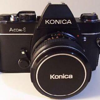 シブカッコいい!!KONICA Acom-1 フィルムカメラ+望...