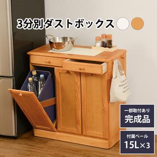 ダストボックス ゴミ箱に見えないキッチンカウンターの画像