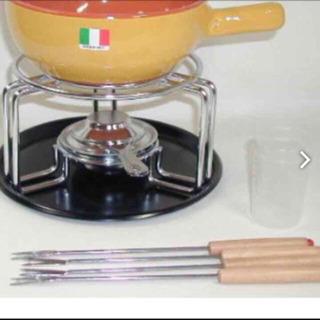 新品 未使用 イタリア製 チーズフォンデュセット