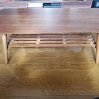 木製ローテーブル 折りたたみ可 100×50cm 高さ36cm