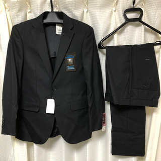 【新品未使用】メンズ スーツ 黒 ブラック 165センチ …