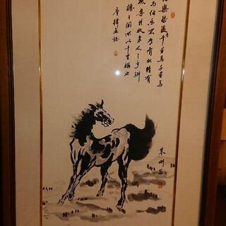 中国 書と絵 墨絵