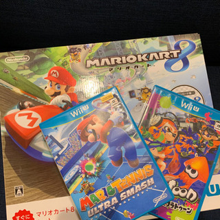 Wiiu 32GB マリオカート8セット スプラトゥーン、マリオ...