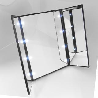 LEDライト付きの女優ミラー使いやすい三面鏡です!