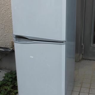 無料 2ドア冷凍冷蔵庫 119L 少々難あり