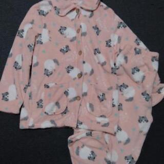 新品 かわいい猫柄パジャマ もこもこ M~Lサイズ ピンク
