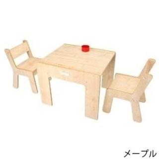 子供用お絵かき机と椅子二脚のセット