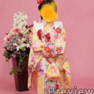 七五三 被布 京都瑠璃雛菊