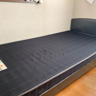 (現在お話し中)シングルベッド 黒 フランスベッド