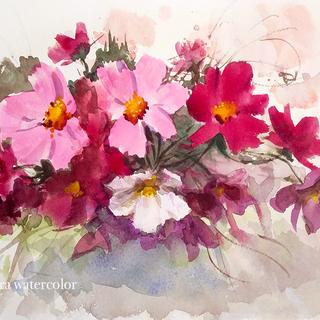 花を描く水彩画無料体験!