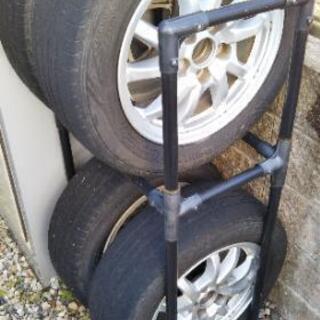 タイヤ、アルミホイール4本 プリウスα、メビウス純正16インチ