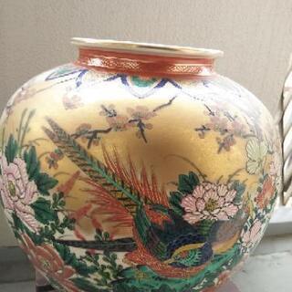 九谷焼文翠花瓶直径30センチ