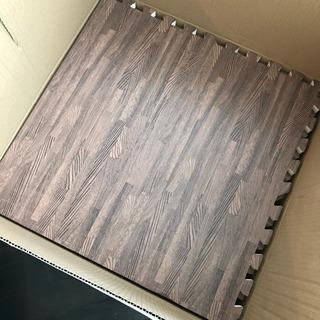 【新品未使用】値下げ!木目大判ジョイントマット3畳・ブラウン