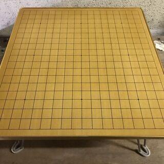 木製 ちゃぶ台 囲碁盤 座卓 ローテーブル 脚折りたたみ可 幅4...