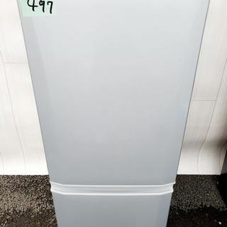 497番 MITSUBISHI✨三菱ノンフロン冷凍冷蔵庫❄️MR...