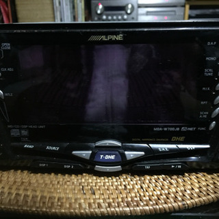 ALPINE カーステレオ  MDA-W700JB 2DIN