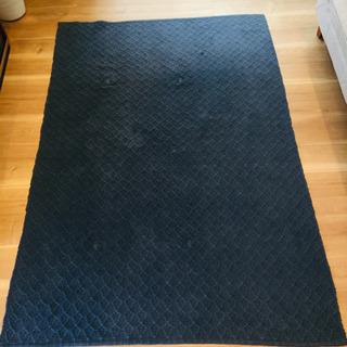 綿100% 手編みラグマット カーペット 1.5畳 ホットカーペ...
