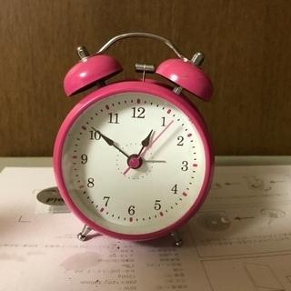 目覚まし時計 ピンク 訳あり