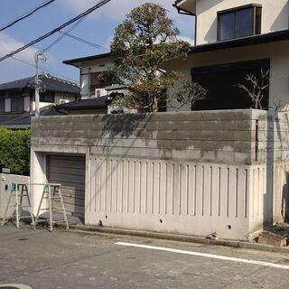 外壁コンクリートの特殊アートペイント補助