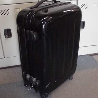 【やや訳あり】黒いスーツケース キャリーケース 鍵なし SSサイ...